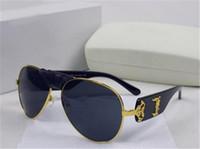 Wholesale Brand Men Leather Coat - Italy designer men women brand sunglasses metal frame removable leather buckle Medusa vintage eyeglasses coating lens eyewear lunette box