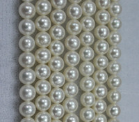 Wholesale 6mm Round Freshwater Pearl Bead - Loose Beads 5.5-6mm white cultured round freshwater pearl loose beads fashion DIY jewelry AAAA grade