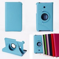 Wholesale Rotating Case Asus - For Asus FonePad 7 FE170CG Rotating Stand Flip PU Leather Smart Tablet Cover Case With Free Shipping