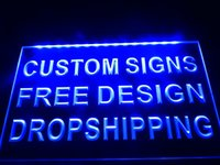 Wholesale Neon Restaurant - 30*20cm design your own Custom Neon Light Sign Bar open Dropshipping decor shop crafts led , Picture can be added