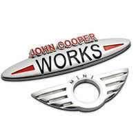Wholesale John Cooper Stickers - New for JOHN COOPER WORKS R50 R52 R53 R56 R57 R58 R60 Plating Smooth Glossy car badge sticker for mini COOPER emblem Styling