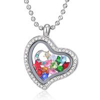 çinko zincir gemisi toptan satış-2015 sıcak Kalp manyetik cam yüzer charm locket Çinko Alaşım (ücretsiz dahil zincirleri) ücretsiz gemi