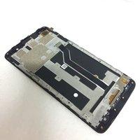 zte değiştirme toptan satış-6.0 LCD Digitizer Meclisi ile ZTE Max XL Z986 N9560 için Çerçeve Yedek Parçalar Siyah