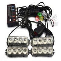 Wholesale Drag Lights - Wholesale-Car led grille lights dragged four wired remote control to clear the way Strobe Strobe Warning Light Multi-Mode