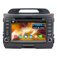 Wholesale Gps For Kia Sportage - 8 Inch HD 1024*600 Quad Core Android 4.4 car dvd gps for KIA sportage r Sportage 2010 2011 2012 2013 2014 with Radio,WiFi,3G,