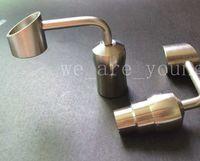 titan honig eimer nägel großhandel-90 Grad Honig Eimer Titan Nagel 14mm18mm weibliche oder männliche Gelenk für Wasserrohr Glas Bong Rauchen