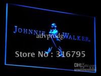 Wholesale neon lights whiskey resale online - a082 b Johnnie Walker Whiskey Wine Bar Neon Light Signs