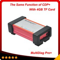 Wholesale New Design Pro Cdp - 2015 New designed TCS CDP+ Multidiag pro+ 2014.2 version no bluetooth with 4GB TF card + carton box free shipping