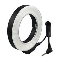 Wholesale Dslr Light Ring - Hot Selling 48 pieces Macro LED Ring Flash Light for Canon Nikon Pentax Olympus Panasonic DSLR Camera Free Shipping