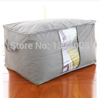 Wholesale Free Quilt Fabric - New 1Pc Quilt Pouch Gray Free Shipping Orange Bamboo Clothing Finishing Boxs Admission Packages Queen Quilt Pouchs Tricolors Hot
