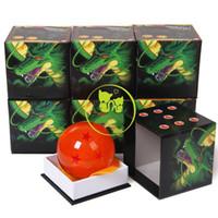 ein stück boot modell großhandel-7,5 CM Große Anime Dragon Ball 7 Sterne Dragonball Z Cartoon Action-figuren Kristallkugel Geburtstagsgeschenk Sammlung Souvenir Desktop Dekoration