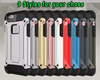 Pour Iphone X 8 I8 7 SE 5 5S 6S 6 PLUS Housse durable balistique hybride TPU PC Aluminium Hard Slim Wave Armor ShockProof skin Back Cover Luxury