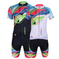 Wholesale Colorful Cycling Jersey Sets Short Sleeve Bike Clothes Shorts Summer Spring Men Women Unisex Bicycle Clothing