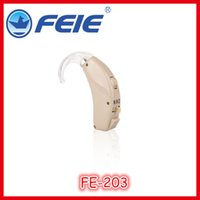 Wholesale Behind Ear Hearing Aids - Ear hook medical plastic BTE behind ear enhancing deaf aid hearing aids for hearing loss FE-203 free shipping