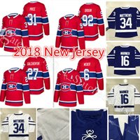 Wholesale Alex Galchenyuk Jersey - 2017-2018 New #31 Carey Price 6 Shea Weber Jersey 17-18 Men's 27 Alex Galchenyuk 92 Jonathan Drouin Hockey Jerseys