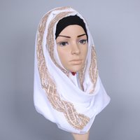 shimmer Glitter scarf women silk and chiffon shawls headband beach hijab long shawls scarves / pashmina BS368