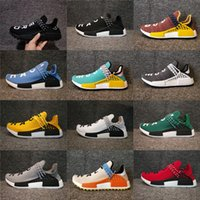 Wholesale Womens Green Tennis Shoes - Adidas Originals NMD Human Race Pharrell Williams Hu trail NERD Men Womens Running Shoes NMD XR1 Sports Shoes Eur 36-47 With Box