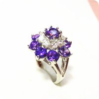 Wholesale Gemstone Ring Tanzanite - High Quality GORGEOUS 6.0CT NATURAL TANZANITE 14KT WHTIE GOLD GEMSTONE RING -TW23