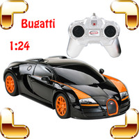 Wholesale Auto Diecast - Hotsale Gift 1 24 Bugatti RC Car Road King Model Racing Speed Voiture Auto Vehicle Color Gift For Boy Kids Toy Race