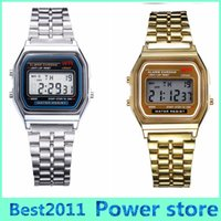 Wholesale Thin Led Watches - Free shipping F-91W watches Fashion Ultra-thin LED Wrist Watches F91W Men Women Sport watch 2015 2016 new