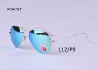 Wholesale flash drive boxes - UV400 Polarized Sunglasses Brand Designer Sunglasses for Man Women Pilot Style Metal Frame Flash Mirror Lenses 58mm 62mm with Original Box