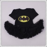 Wholesale Infant Black Tutu Skirt - New arrival Baby infant toddler Superman Superwomen romper Onesies Dress tutu skirt lace short chiffon ruffles Batman Pajamas PJ'S bodysuits
