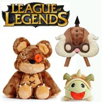 Wholesale Hat Lol - League of Legends Tibbers Plush Corki hat cosplay cap Rammus poro stuff plush OFFICIAL EDITION Annie's Bear plush doll LOL Stuffed Toys