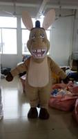 Wholesale Mascot Costumes Donkey - Adult costume Donkey mascot costume from shrek character costume