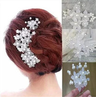 Wholesale Sequin Hair Flowers - Crystal Tiaras Hair Accessories Beaded Blossom Hair Headpiece Beaded Wedding Headpiece Bride Hair Accessories Headpieces HT03