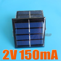 Wholesale Mini Pv - 2PCS X 2V 150mA Mini monocrystalline polycrystalline solar Panel small solar cell PV module for DIY solar Kits