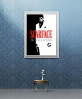 Wholesale Poster Scarface - Free Shipping Scarface Movie Al Pacino The World Is Yours Movie Poster High Quality Art Posters Print Photo paper 16 24 36 47 inches