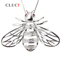Wholesale Silver 925 Bee - Fine Jewelry 2pcs 925 Sterling Silver Lovely Bee Cage Pendants, 26.4*36.1*9.9mm, free shipping