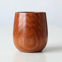 ingrosso piccole tazze di latte-Piccola tazza di legno fatta a mano naturale giuggiola birra tazza di legno tazza di legno colazione birra latte drinkware cca8057 20 pz