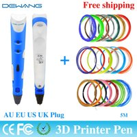 Wholesale Made Order China - Direct Manufacturer 3D printing pen made in China hot sale DEWANG Brand First Generation With 20 Color 5M ABS Filament Free Ship order<$18no