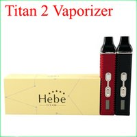 Wholesale Plastic Display Screen - Titan 2 Vaporizer Kit Hebe Dry herb Vaporizer Pen 2200mah With LED Display Screen Huge Vapor E Cigarette kits DHL free