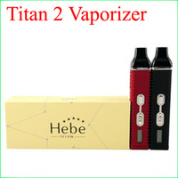 Titan 2 Vaporizer Kit Hebe Dry herb Vaporizador Pen 2200mah Com LED Display Screen Enorme Vapor E Cigarette kits DHL grátis