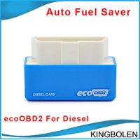 Novo Design Chip EcoOBD2 Sintonia Box Plug and drive OBD2 Tuning Chip Box Lower combustível e menor emissão Para Diesel Car Fuel Saver DHL Publicar livre
