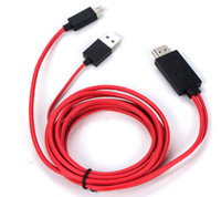 Wholesale Mobile Phone For Hdtv - 1pcs HDMI Cable Full HD 1080P 2M Micro USB MHL To HDMI HDTV Adapter Converter Mobile Phone Digital Cable For Samsung Galaxy S3 S4 Note2
