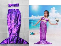 Wholesale Kids Wholesale Bras - Children's Cosplay kids girl mermaid sea-maid dresses bra shirt tops clothing Christmas Halloween cartoon movie perform cos props party gift