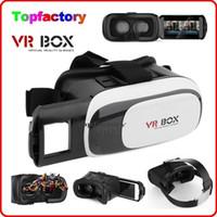 "Wholesale Cheap 3d Movies - Cheap Head Mount VR BOX Version VR Virtual Reality Glasses Rift Google Cardboard 3D Movie for 3.5"" - 6.0"" Smart Phone"