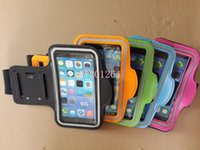 Wholesale Band Iphone Covers - Free Shipping Workout Cover Sport Gym Case For iPhone 6 Plus Arm Band Holder Waterproof Pouch 1pcs lot