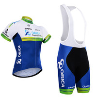 Wholesale Orica Greenedge Cycling Clothing - New Arrival 2016 Orica Team cycling jersey bike shorts set quick dry 100% polyester greenedge bicycling wear Ropa Ciclismo MTB bike clothing