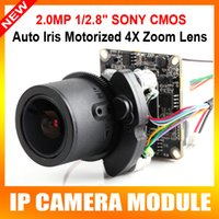 Wholesale Hd Ip Camera Optical Zoom - 53H20AF IMX322+Hi3516 Network HD 1080P IP Camera Motorized 4X Optical Zoom,With 2.8-12mm Lens,IP Camera Module CMS Mobile P2P View