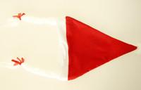 Wholesale Santa Hat Braids - Christmas Decoration With braids Christmas hat Santa Claus hat