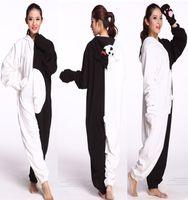 ours pyjama cosplay achat en gros de-Costume d'Halloween et de Carnaval Adulte Cosplay Danganronpa Monokuma Ours Kigurumi Onesies Pyjamas Combinaison Hoodies Vêtements Cosplay