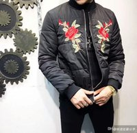 Wholesale Male Heavy Collar - Free shipping new high-end men's wholesale male jacket jacket Slim men's heavy embroidery soft and comfortable warm thickening cot