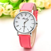 Wholesale gold plated ladies watches - Fashionable Ladies Leather Watch Good Designed Security Wrist Watch for Women 18k Gold Plated Wrist Watch Free Shipping