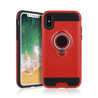 Wholesale defender case s4 - For Samsung Galaxy S8 Plus S7 Edge S5 S4 Grand Prime G530 Hybrid Defender Case Kickstand Cover with Ring Hot Pink Red Silver