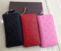 Wholesale Cowhide Clutches - Free Shipping New Woman Selling Pu Single Pull Purse Clutch Bag Wallet Card Holder 3 Colors
