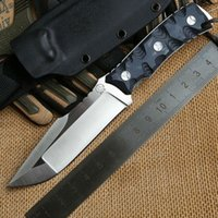 Wholesale Rock Hunting Tools - Bolte Rock D2 blade G10 handle fixed blade hunting large straight knife KYDEX Sheath camping survival outdoors EDC knives tools